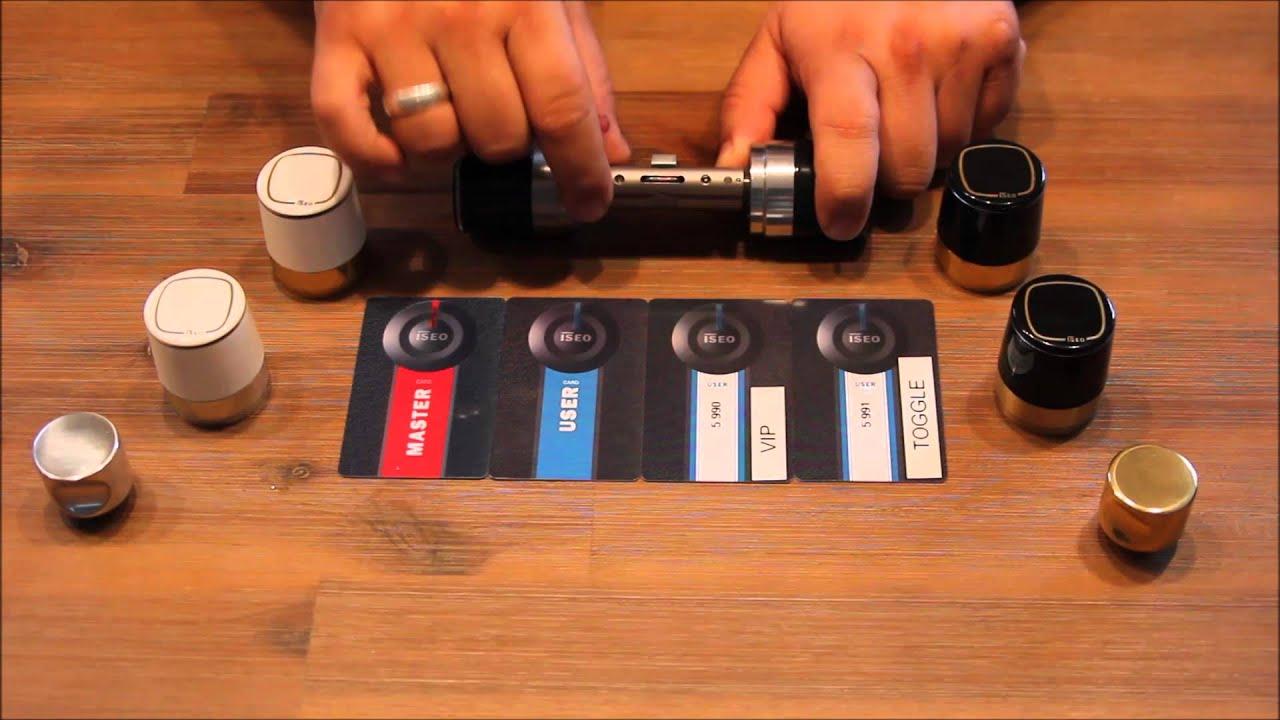 neuvorstellung elektronischer schlie zylinder iseo libra youtube. Black Bedroom Furniture Sets. Home Design Ideas