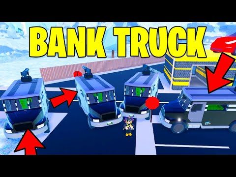 Roblox Jailbreak Bank Truck INSTANT Robbery Glitch! *FASTEST* (Roblox)