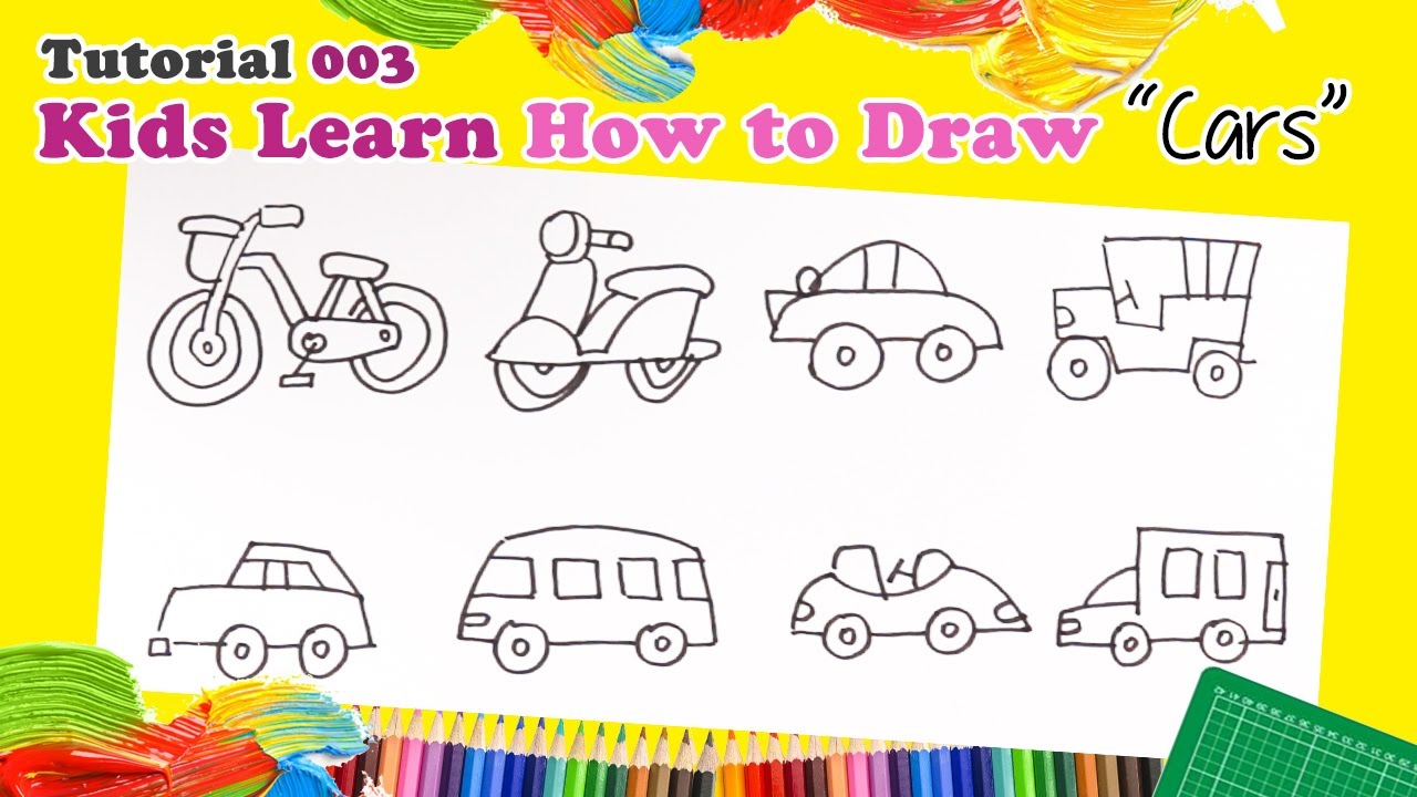 drawing different cars kids to learn different type of cars youtube