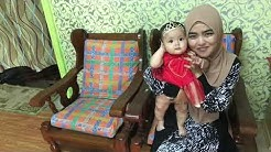 Anta Permana with baby Adira Raisya