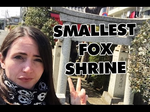 Find A Shrine: Smallest Fox Shrine in Tokyo ★ 小さな狐の神社