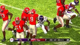 NCAA Football 09 Season 2008 2009 64 Team Playoff 1st RD WEST #16 East Carolina vs #1 Georgia