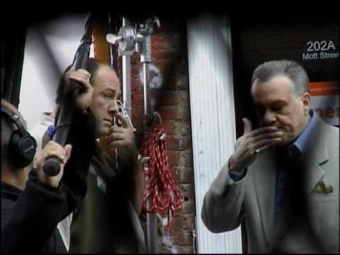Tony Soprano bloopers & funny  outtakes while shooting The Sopranos