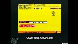 GT Advance 3: Pro Concept Racing Game Boy Gameplay