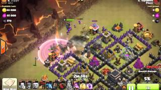Clash of Clans: Lavaloonion War Attack (TH9)