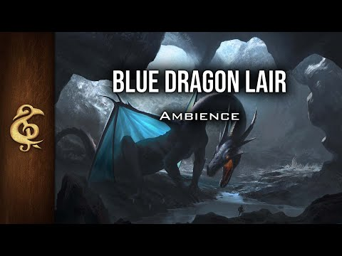 🎧 RPG / D&D Ambience - Blue Dragon Lair | Ice, Treasures, Danger, Cold