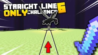 I Beat Minecraft by ONLY Walking in a Straight Line (FINALE)