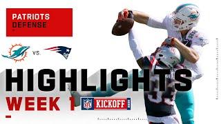 Patriots Defense Dominates tнe Dolphins   NFL 2020 Highlights