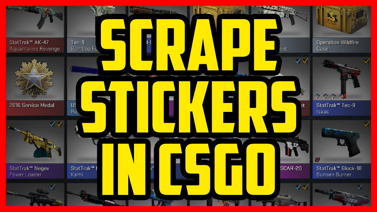How To Scrape Stickers In Csgo 2017 Quick Easy What Happens When You Scrape Stickers In Csgo