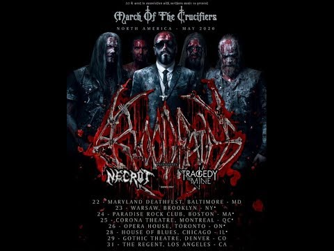 Bloodbath 2020 N.A. tour w/ Necrot  -  Carnifex N.A. 2020 tour w/ 3Teeth ...!