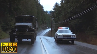 Rambo First Blood (1982) - Truck Vs Car & Crossing The Bridge Scene (1080p) FULL HD
