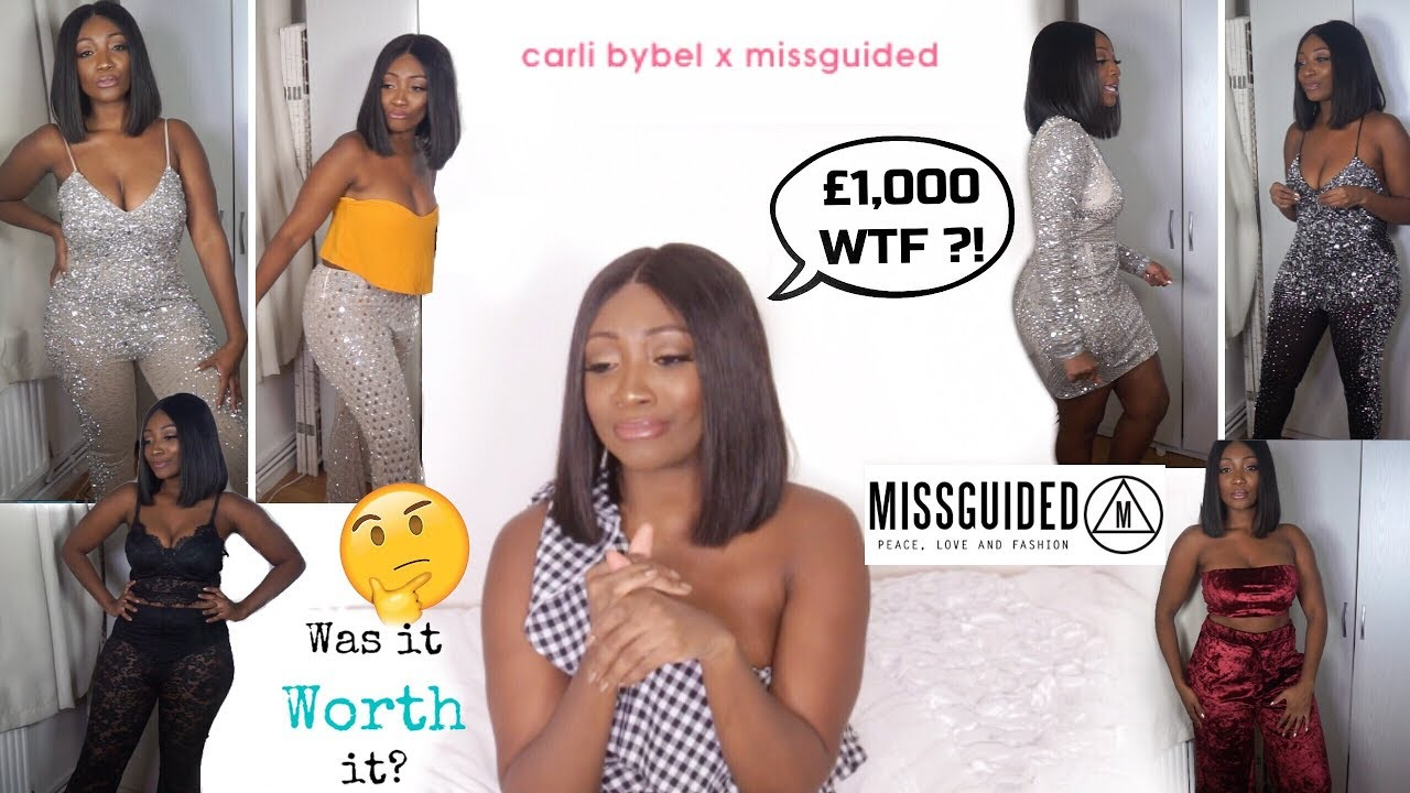 e06c056e1b79 I SPENT £1,000 ON MISSGUIDED OMG! : CARLIBYBELxMISSGUIDED HOLIDAY TRY ON  HAUL | CURVY GIRL EDITION