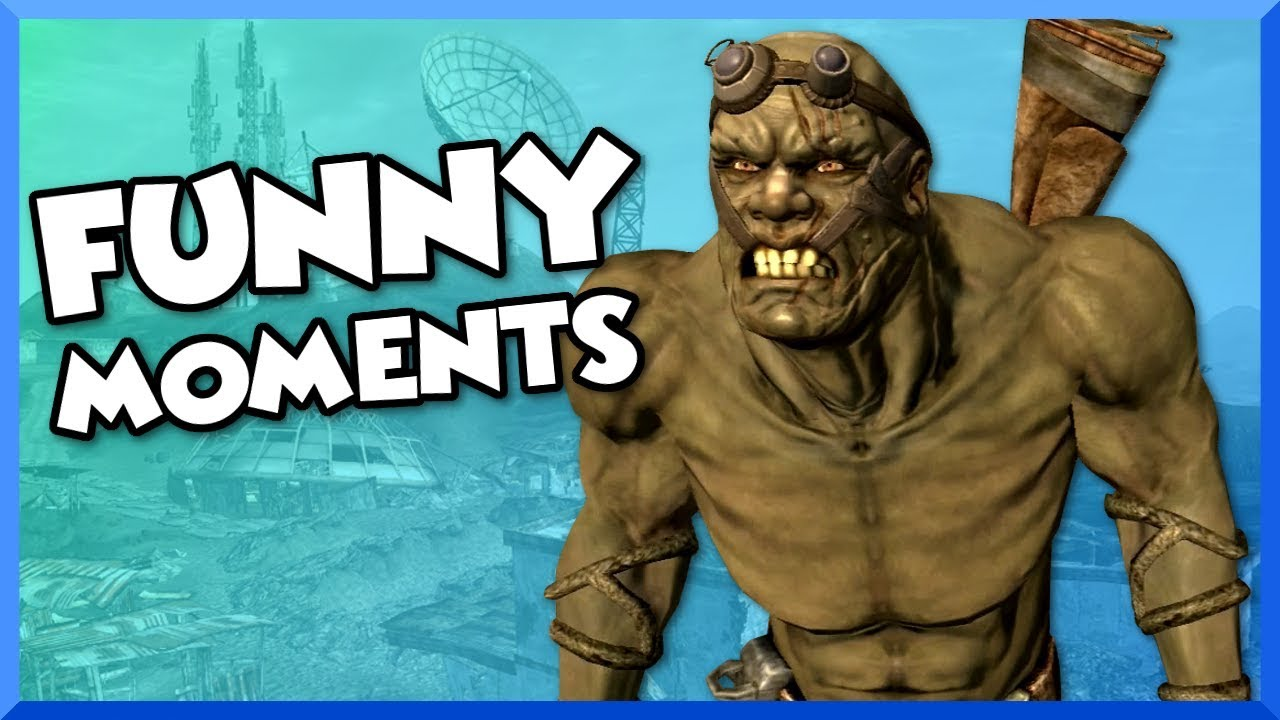 Fallout New Vegas Funny Moments Neil The Super Mutant Black