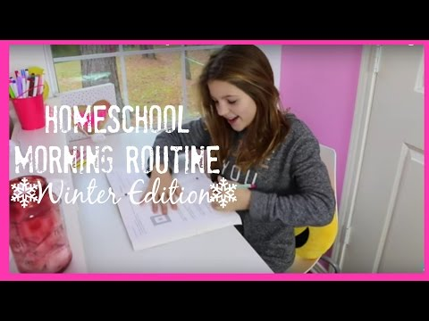 School Morning Routine | Annie's New 2016 Winter Edition Homeschool | JazzyGirlStuff