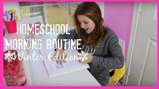 School Morning Routine | Annie's New 2016 Winter Edition Homeschool | best friends