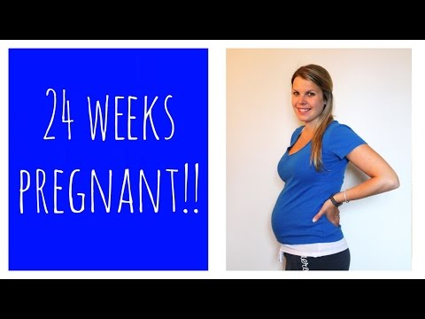 24 weeks Pregnant!! + Fetal movement clip!