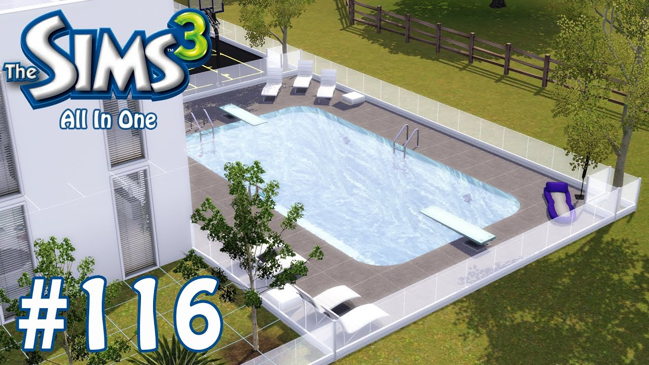 The sims 3 adding swimming pool part 116 youtube for Pool design sims 3