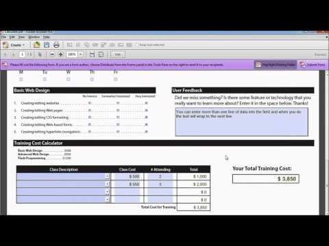 Creating PDF Forms