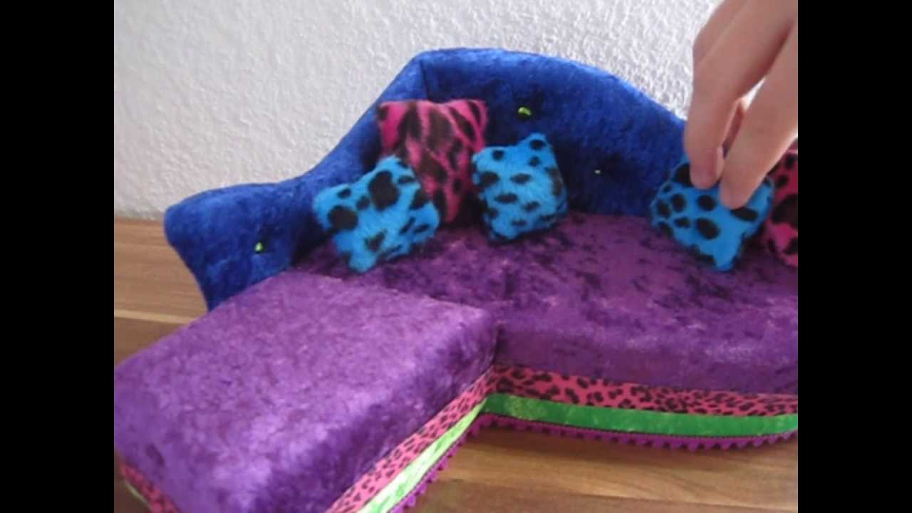 Monster High Ebay >> Monster High ♥ Handmade Couch by → MRSMOONRACER ♥ Dawn of the Dance ♥ Doll Review - YouTube