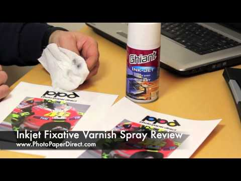 Inkjet Fixative Varnish Spray Review By Photo Paper Direct