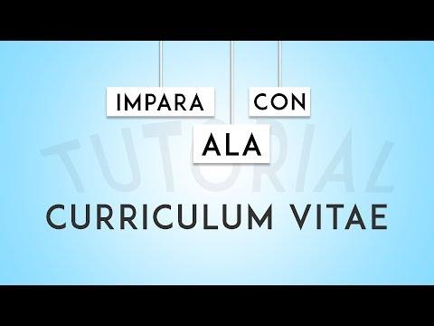 Come Scrivere Un Curriculum Vitae Con Europass | IMPARA CON ALA