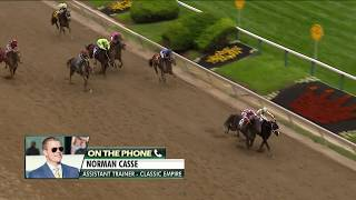 Norm Casse discusses Classic Empire's loss in the Preakness Stakes