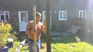Building A Garden Fence In Blackwood, South Wales