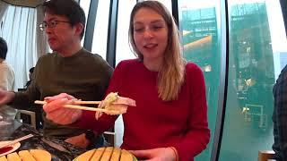 VLOG.Путешествие в Японию.Вкусный ресторан суши в Токио. / Видео