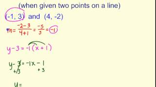 standard form using two points Write Standard Form (when given two points) - YouTube