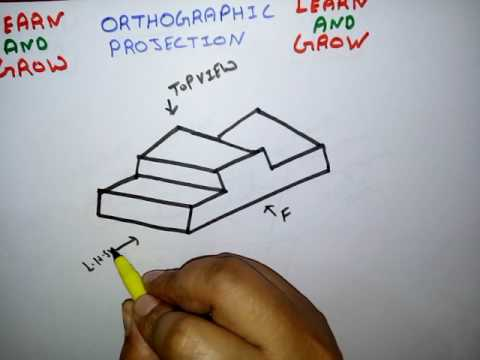 ORTHOGRAPHIC PROJECTION (हिन्दी) ! LEARN AND GROW