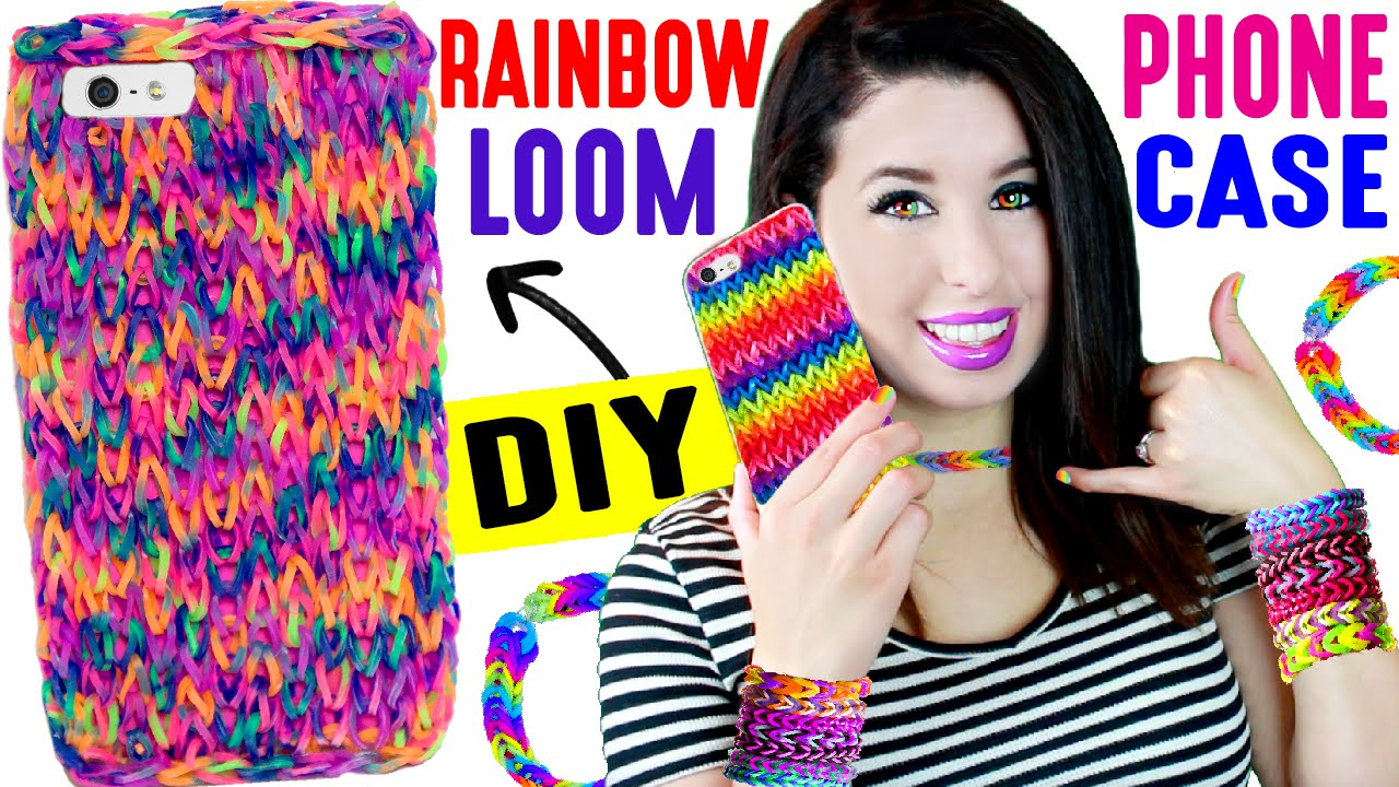 How To Make The Basket Weave Rainbow Loom : Diy rainbow loom phone case how to weave an iphone