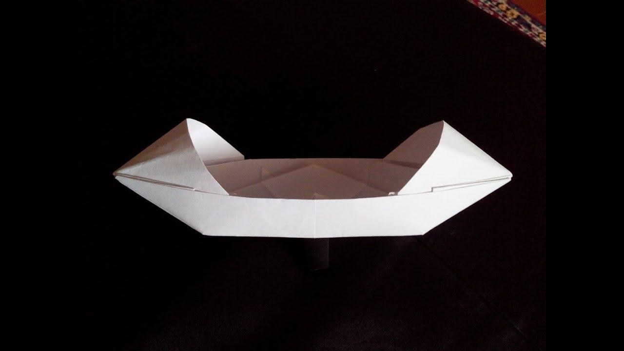 Делаем лодку-плоскодонку и каноэ из бумаги