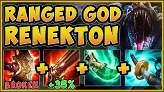 WTF! THIS BUILD TURNS RENEKTON INTO RANGED CHAMP?? RENEKTON SEASON 9 TOP GAMEPLAY! League of Legends