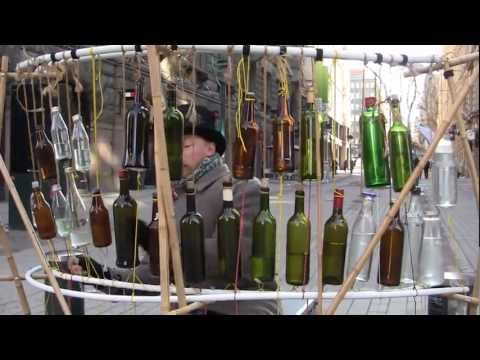 Glass bottle music.