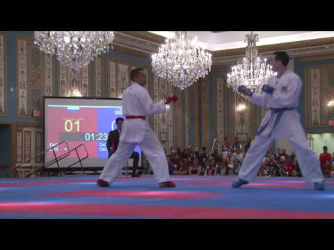 2017 US Open Elite Male Kumite -75 Kg Alexander Nicastro VEN vs Thomas Scott USA