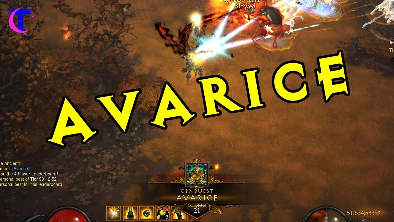 Diablo III Season 15 - Avarice Conquest