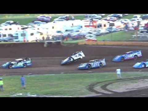 Wild Ride for Kent Robinson in Cedar Lake Speedway Heat Race