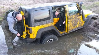 ЗАСТРЯЛИ в поле на Jeep...Не можем ВЫБРАТЬСЯ...STUCKED on Jeep ... Can't GET OUT ...