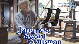 Traditional Japanese sword craftsman