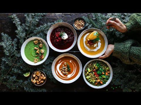 Cozy vegan soups » a hug in a bowl 🥣 Healthy Food Videos
