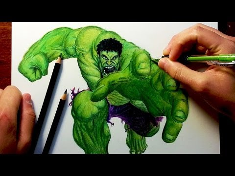 THE HULK Before & After Drawing