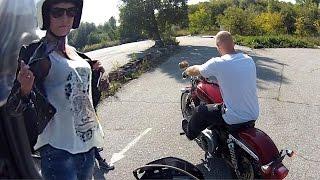 девченка упала с мотоцикла yamaha xtx 660