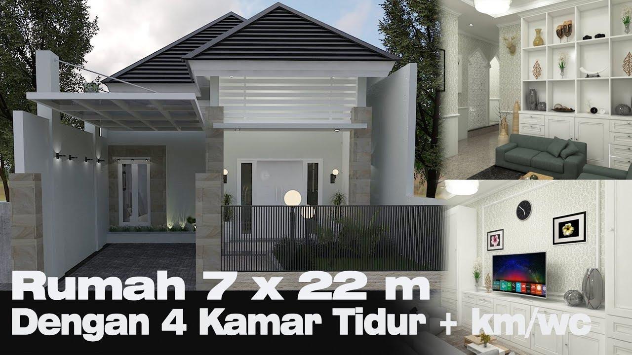 Desain Rumah Petak Pintu Utama Hadap Samping Cek Bahan Bangunan