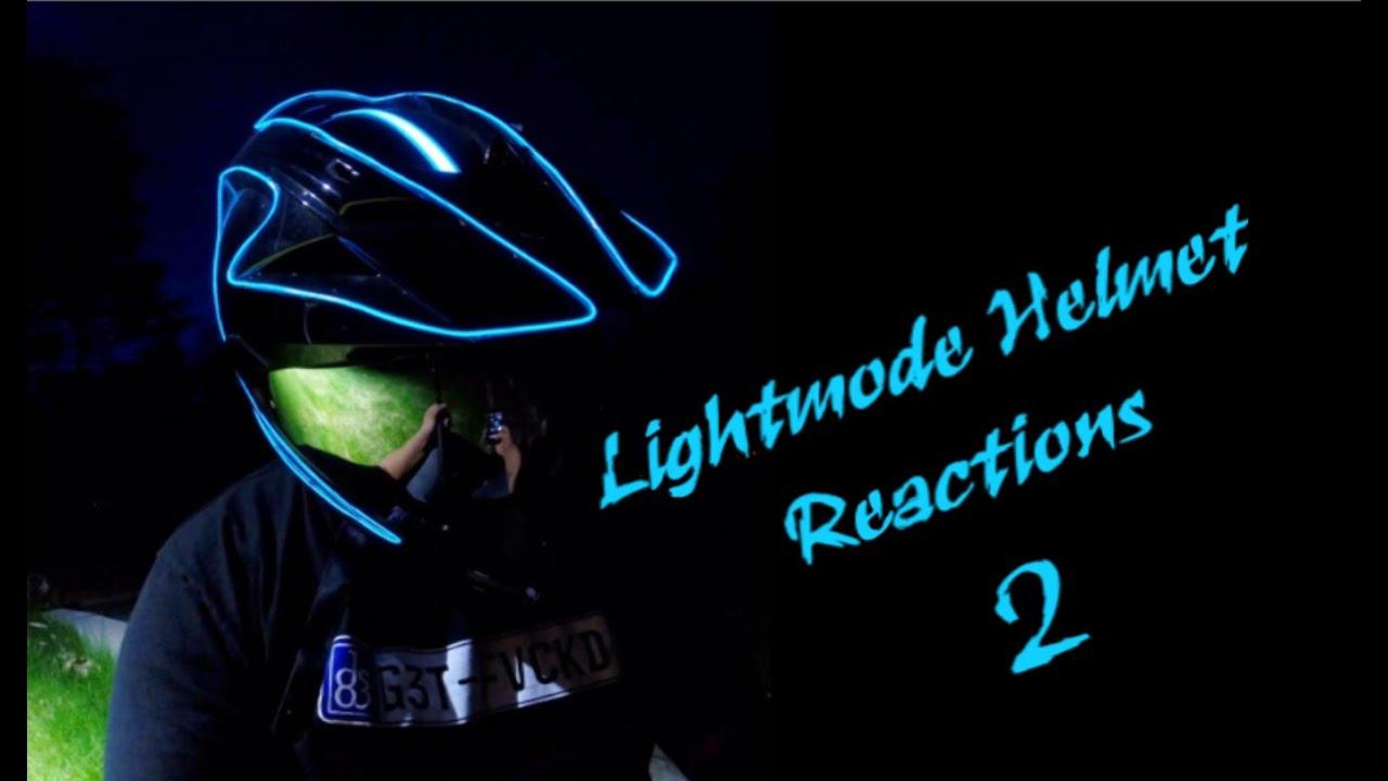 lightmode helmet reactions 2 youtube