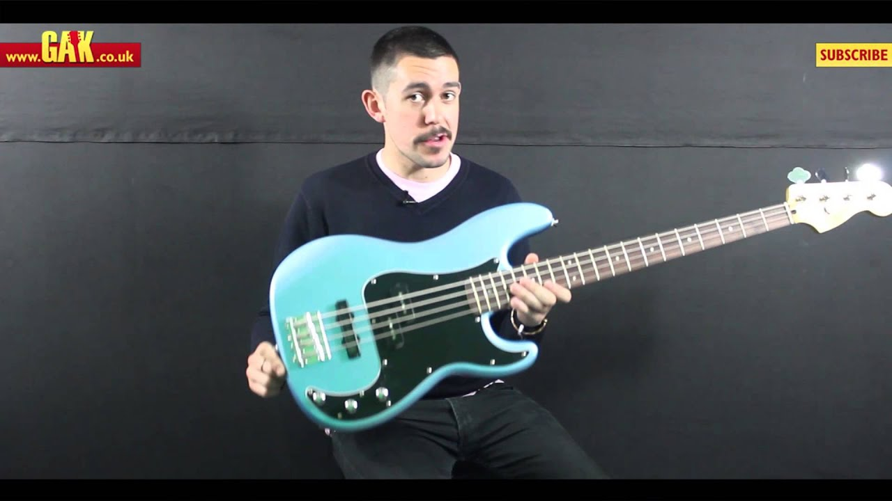 squier vintage modified precision bass pj demo at gak youtube. Black Bedroom Furniture Sets. Home Design Ideas