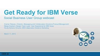 Webcast Replay:  Get Ready for IBM Verse