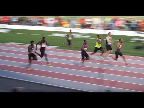 Andre De Grasse Wins Mens 100m at Harry Jerome Classic 2017