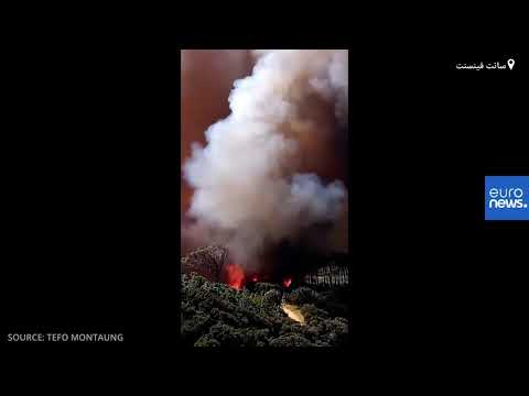 شاهد: اندلاع حريق ضخم عند سفح جبل تايبل ماونتن الشهير في جنوب إفريقيا  - نشر قبل 2 ساعة