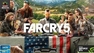 """Far Cry 5 on i5 3470 - GTX 1060 -16 ram 60 FPS """"Cracked CPY"""""""