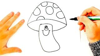 mushroom drawing simple draw easy tutorial drawings paintingvalley paso dibujo seta dibujar